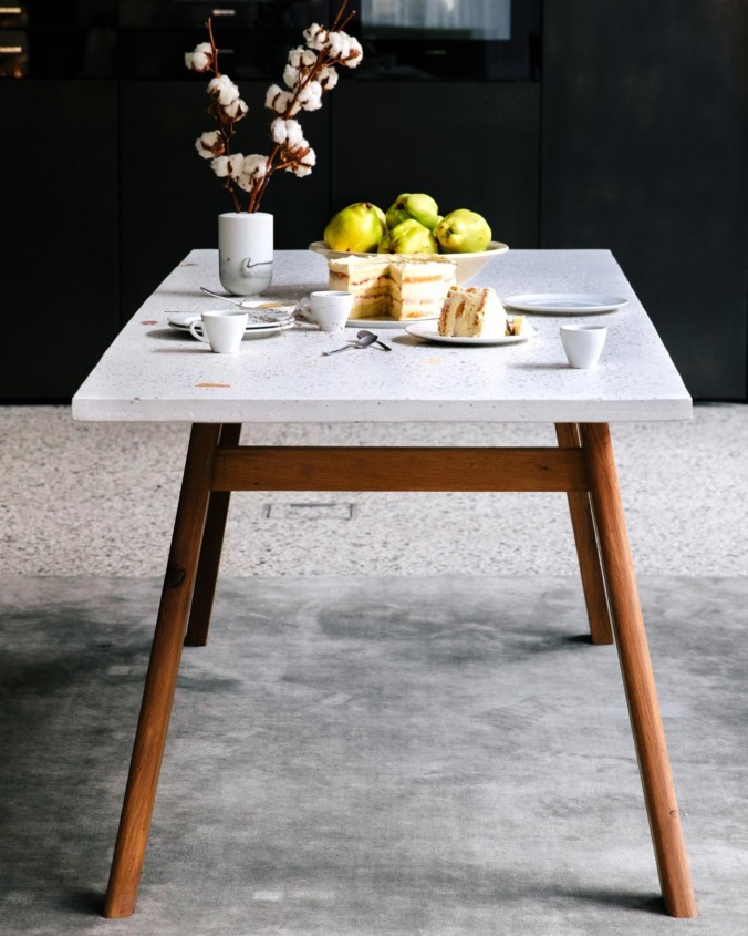 kentholz terrazzo table collection